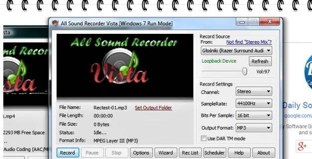 Nagrywanie dźwięku wjakości HD